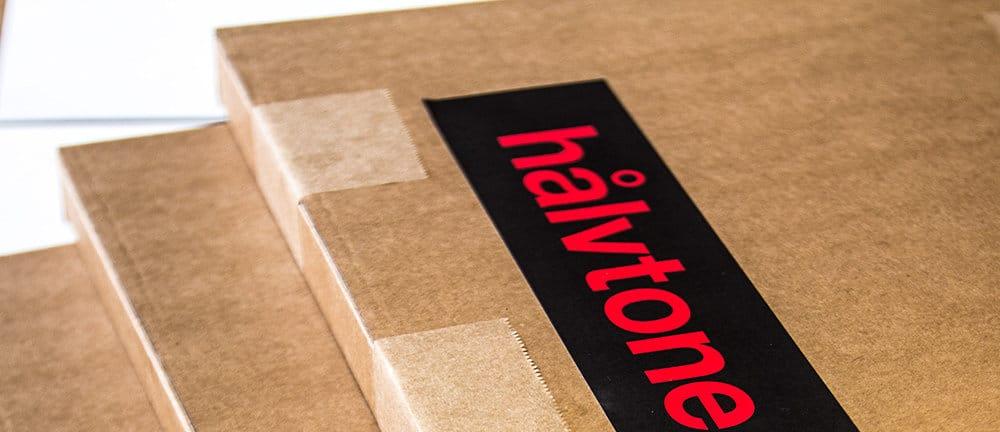 hålvtone Verpackung für Dein Holzwandbild