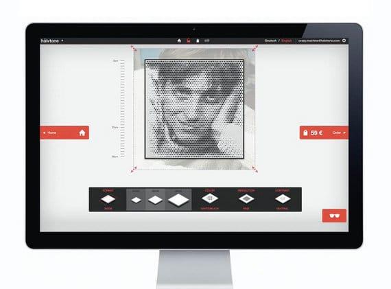 Virtuelle Werkstatt von hålvtone zur Bearbeitung Deiner Fotogeschenke