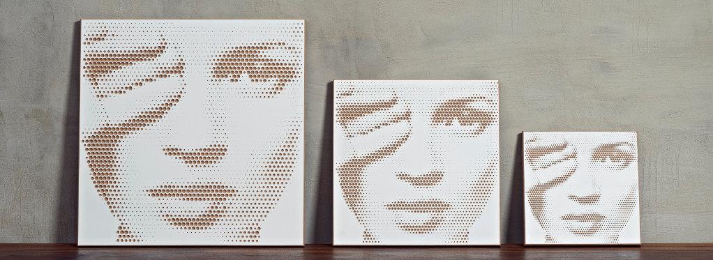 hålvtone 3 Größen Frau Farbkombination braun/weiß