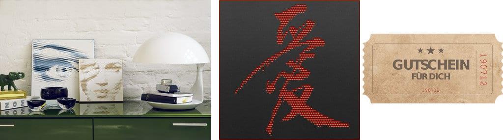 hålvtone Wandbild, Galeriemotiv, Gutschein