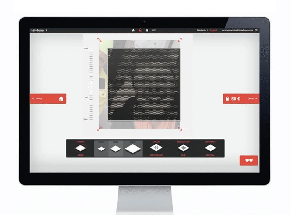 Virtuelle Werkstatt halvtone mit allen Funktionen