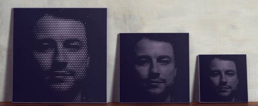 Größenübersicht hålvtone Wandbilder Farbkombination grau/schwarz